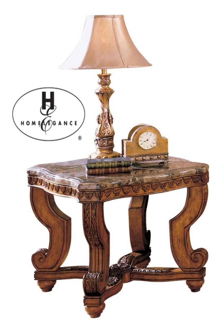 Βοηθητικό τραπεζάκι με μάρμαρο και τέσσερα λεπτοσκαλισμένα πόδια, από την σειρά Tarantula της Home Elegance®.