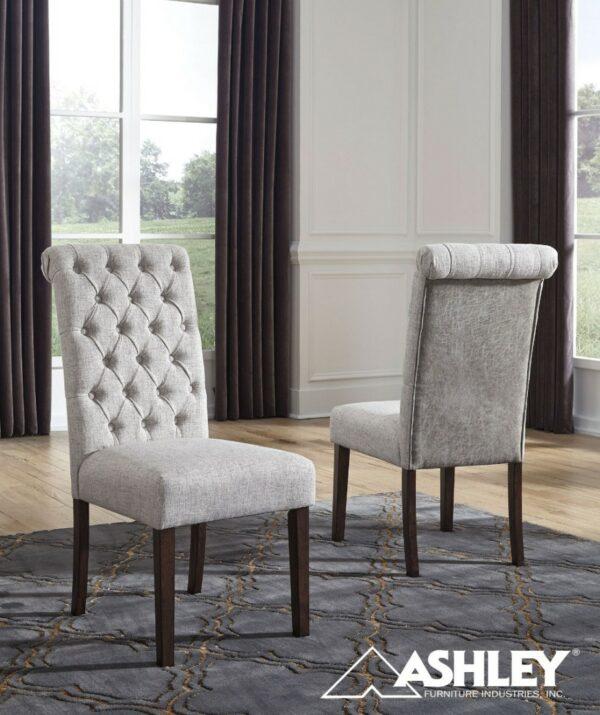 Καρέκλα καπιτονε με ύφασμα Ashley® Adinton D677-02