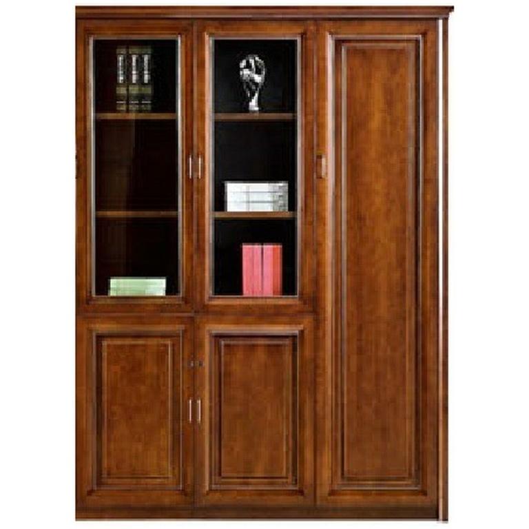 Βιβλιοθήκη-τρίφυλλη-κλειστή-με-βιτρίνα-da573-3