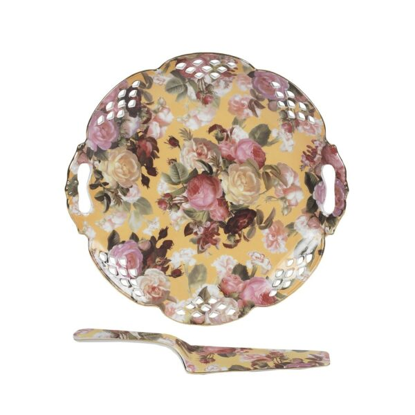 Σετ Σερβιρίσματος 2τεμ. με Floral διακόσμηση
