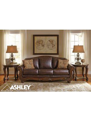 Καναπές Τριθέσιος Δερμάτινος Ashley® Mellwood 64605-38