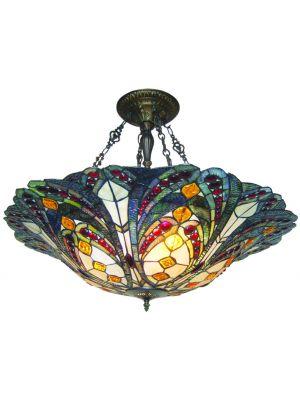 Φωτιστικό Οροφής Tiffany Βιτρώ JH322364/32C
