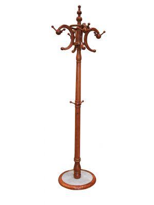 Καλόγερος Ρούχων Ξύλινος Μαρμάρινη Βάση S214C