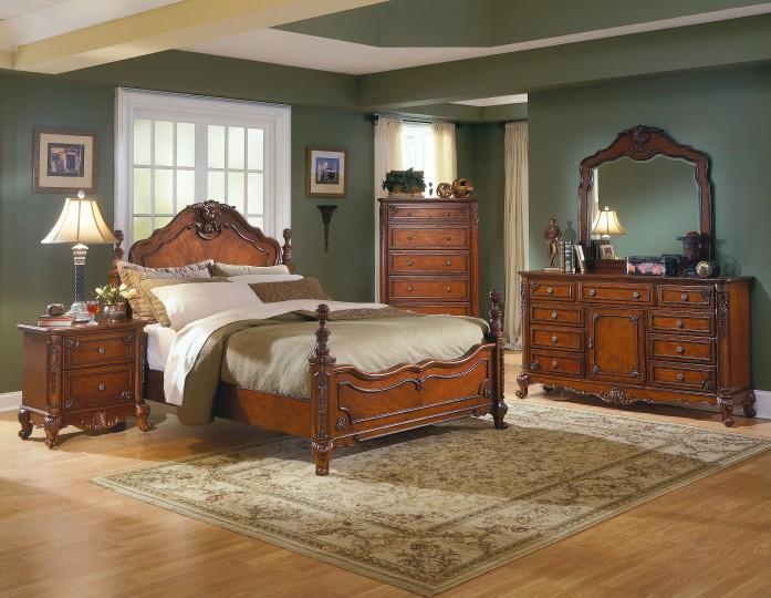 Κρεβάτι διπλό σκαλιστό Κουίν Άν 1394-30