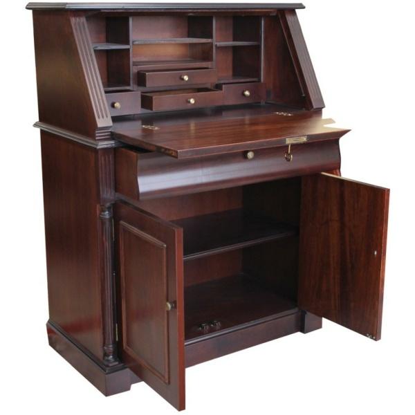 Κλασικό σεκρετέρ – γραφείο, με τέσσερα μικρά συρτάρια και έξι ραφάκια. Στο κάτω μέρος υπάρχει συρτάρι και ντουλάπι με ράφι.